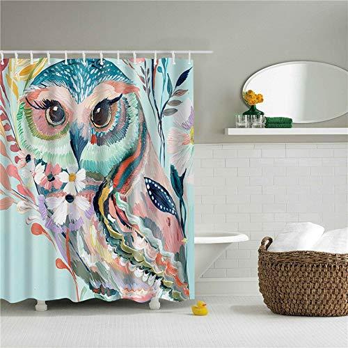 kdjshhs Duschvorhang Tiere Muster Eule Adler Polyester Duschvorhänge Waschbar Hochwertige Bunte Vorhänge Für Bad Dusche 180X200 cm C (Stoff Dusche Vorhang Tiere)