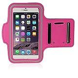 Apple iphone 6 plus (13,97 cm) im handlichen HOT PINK Sportsocken Oberarmtasche Joggen Schutzhülle mit Halterung für iphone 6 plus (13,97 cm)