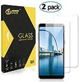CRXOOX Protector de Pantalla para Samsung Galaxy A8, [2 Unidades], Anti-Aceite, Arañazos, Ampollas y Huellas Dactilares, HD, Dureza 9H, 0.33 mm (Transparente)