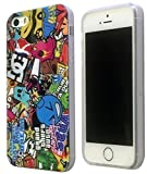 Iphone 5 5S Clear Frame Sticker Bomb Stickerbomb Racer Boy Design Case Back Cover Silicone Gel Design