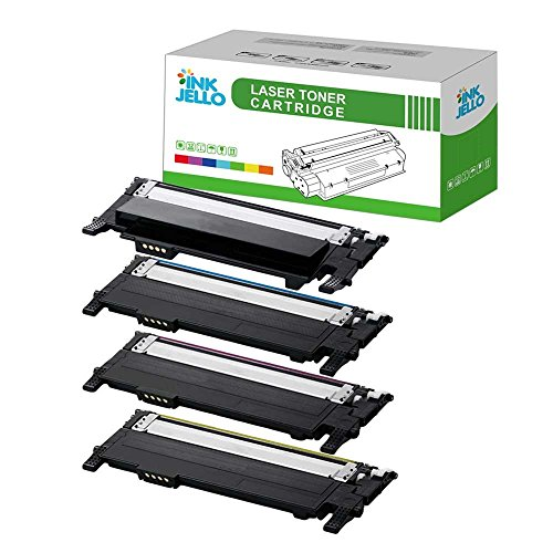 InkJello Compatibile Toner Cartuccia Sostituzione Per Samsung CLP-360 CLP-365 CLP-365W CLX-3300 CLX-3305 CLX-3305FN CLX-3305FW CLX-3305W Xpress SL-C410W SL-C460FW (Nero/Ciano/Magenta/Giallo, 4-Pack)
