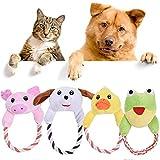 TINGSU Hundespielzeug/Hundespielzeug, zufällige Farbe, interaktives Kauspielzeug mit Quietschelement
