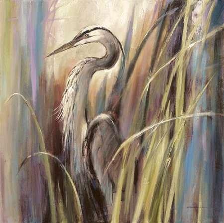 Feelingathome-Impression-sur-papier-fin-art--Coastal-Heron-cm90x90-Sujet-Affiche-pour-cadre