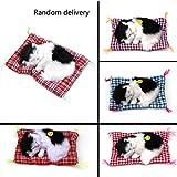 Dynamovolition MIni Lovely Cute Small Simulazione Animal Craft Doll Peluche Pigro Sleeping Cats con suono Giocattolo per bambini Giocattolo di compleanno regalo di peluche