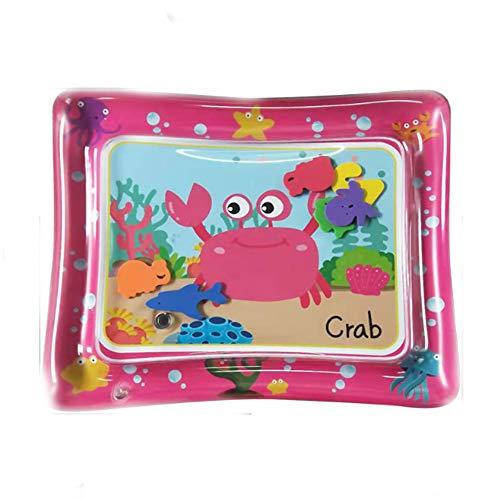 QMKJ Wasserkissen Baby Sprinklerauflage aufblasbare Unterlage Krabben-Fußbodenteppiche Eisenteppich Kinder krabbelnde Matten Geeignet für das Spielen im Freien am Strand eines Säuglings