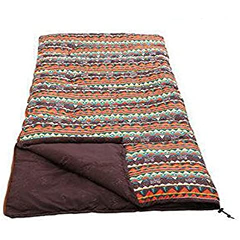 MENGYZ Borsetta adulto campeggio all'aperto portatile busta sacco a pelo sacco a pelo bambini , adults - red brown