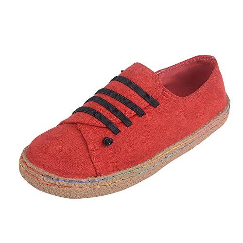 Yesmile Zapatos de mujer❤️Zapatos Planos de Mujer de Las señoras Suaves del Tobillo Zapatos de Mujer de Las Botas de Gamuza con Cordones de Cuero Casual Planos Loafers Zapatos