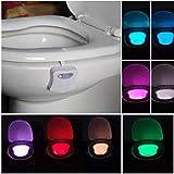 Xshuai Stylish Long Life Span Körper Sensing Automatik LED Weiß Bewegungssensor Nacht Lampe WC Schüssel Badezimmer Licht (Weiß)