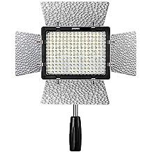 Yongnuo YN-160 III YN 160 III Pro LED Luz de Vídeo con Color 3200-5500K Temperatura Brillo Ajustable 2 CT Filtros para Canon, Nikon, Samsung, Olympus, JVC, Pentax DSLR Camera DV y Camcorder