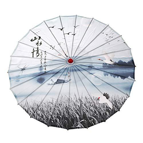 WEISY Papierregenschirm-Abendkleid, chinesischer Landschaftsmalerei-Sonnenschirm-dekorativer Öl-Papierregenschirm für Klassische Cheongsam-Tanz-Foto-Stützen
