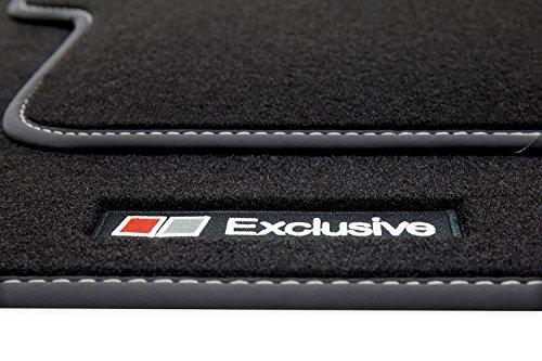 tuning-art A38-FBA 'EXCLUSIVE' Tapis de sol avec liseré, lettrage et coutures décoratives