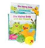 Badebuch Die kleine Ente und der Frosch: mit 2 Figuren