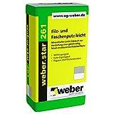 42 Sack/Palette weber.star 261 0,5mm Korn 30kg Filzputz und Faschenputz mineralischer Edelputz
