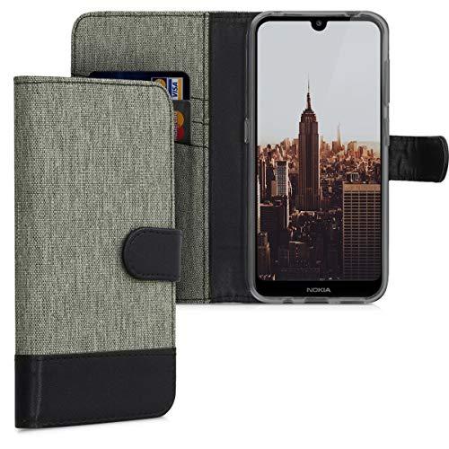 kwmobile Nokia 4.2 (2019) Hülle - Kunstleder Wallet Case für Nokia 4.2 (2019) mit Kartenfächern & Stand