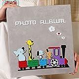 SESO UK- Creative Interstitial Fotoalbum, Jubiläum Hochzeit Baby Wachstum Memo Familienalben, für 600 Fotos mit Einer Größe von 6x4/10.2x15.2cm (4D) (Farbe : Grau)