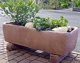 Trog aus Werksandstein inklusive Füße Pflanztopf Pflanzpokal Amphore Pflanzkorb