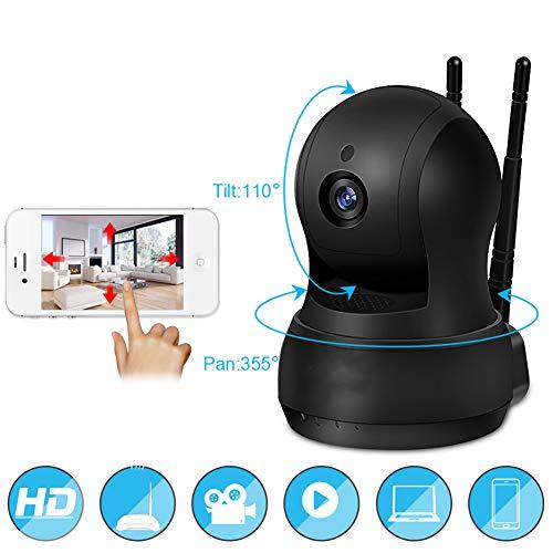 QZX Babyphone WiFi IP-Kamera mit 720P HD-Sicherheit mit Zwei-Wege-Audio Nachtsicht für iOS, Android und Windows PC Device Remote View Unterstützen Sie gleichzeitig den Zugriff mehrerer Benutzer (Remote-zugriff)