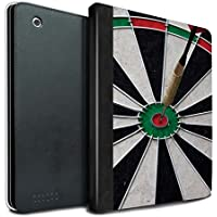 STUFF4 PU Leather Book/Cover Case for Apple iPad 2/3/4 tablets / Bull/Bullseye Design / Darts Photo Collection