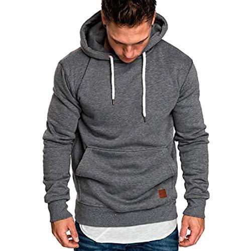 4b80602083b Yvelands ¡Oferta Sudaderas con Capucha para Hombre Cosy Sport Outwear  Sudadera con Cremallera Completa Ecosmart