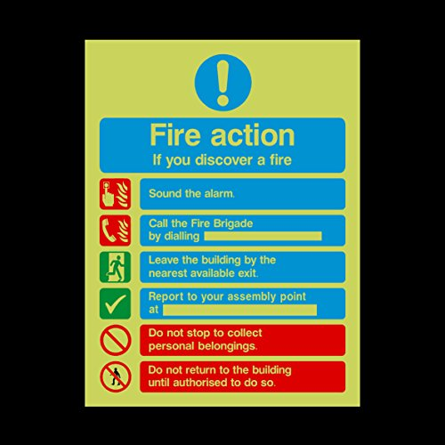 fire-action-if-you-discover-a-fire-photoluminescent-plastic-sign-with-double-sided-fixing-tape-emerg