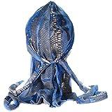 Bandana serpent bleu serre tete du rag doo rag homme femme biker rap hip hop rnb