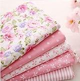5pcs/lot 40cm * 50cm rosa 100% tela de algodón para coser retales Colchas Patchwork Seda Tilda–Gamuza de muñeca Kids ropa de cama Textil