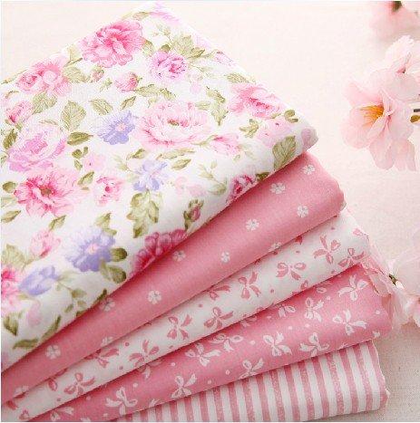 5pcs/lot 40 cm * 50 cm rosa 100% tela de algodón para coser retales Colchas Patchwork Seda Tilda   Gamuza de muñeca Kids ropa de cama Textil