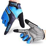 Fahrradhandschuhe Radsporthandschuhe rutschfeste und stoßdämpfende Mountainbike Handschuhe mit Signalfarbe geeiget für Radsport MTB Road Race Downhill Wandern und andere Sports unisex Herren Damen