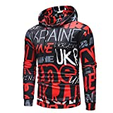 Kapuzenpullover Sunnyadrain Herren Hoodie Muster O-Neck Plus Größe Geschäft Pullover Winter Warm Sweatshirt Top Bluse Langarm