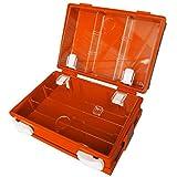 Valigetta pronto soccorso vuota in ABS con chiusura con due clip rotanti, colore arancio