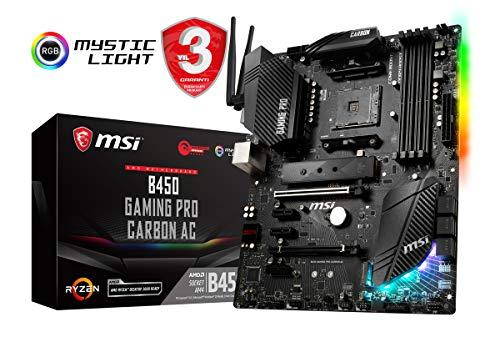 MSI B450 GAMING PRO CARBON AC Scheda Madre DDR4, SATA3, Dual M.2, GbE/ac WiFi, USB 3.1
