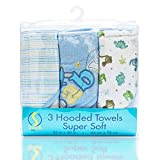 Best Luvable Friends Gifts For Newborns - Spasilk Soft Terry Hooded Towel Set, Blue Baby Review