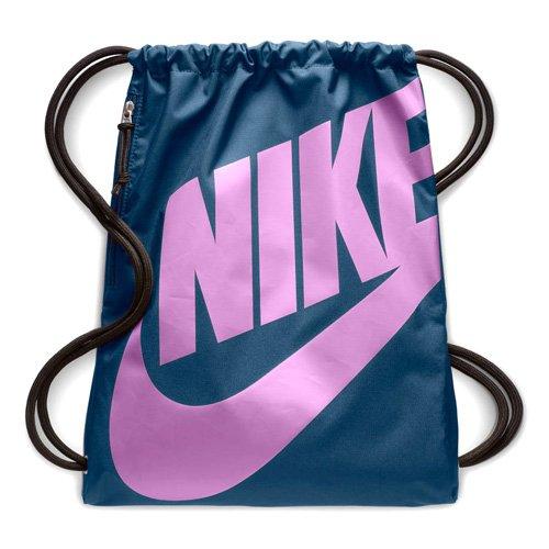 Nike Heritage Turnbeutel, Blau/Fuchsia