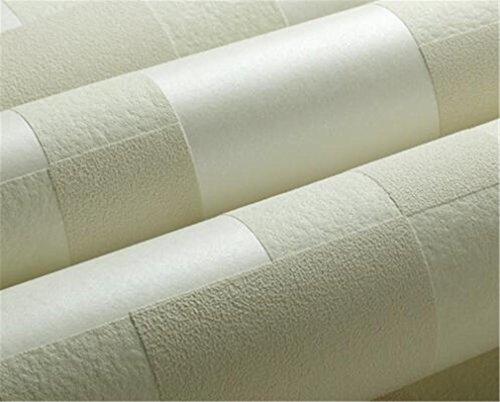 Semplice moderna 3D Wallpaper non tessuto Bedroom TV Soggiorno Sfondo Mosaico Carta da parati decorazione 53 * 1.000 centimetri , 65031 ivory yellow - Ivory Pearl Carta