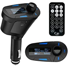 Kit inalámbrico para coche que incluye reproductor MP3, manos libres, receptor de FM, puerto USB SD MMC con pantalla LCD y mando a distancia