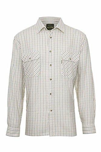 Champion Tattersall-Muster Hemd Baumwoll-Polyester-Mischgewebe Grün