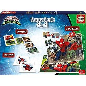 Educa – Superpack juegos Spiderman vs Sinister 6, contiene 2 puzzles, 1 juego de memoria y 1 domino, a partir de 3 años…