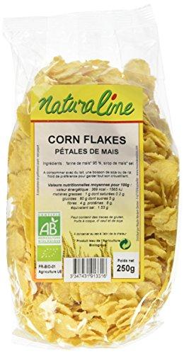 Moulin des Moines Corn Flakes de Maïs Non Sucré Bio 250 g - Lot de 5