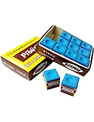 Fancyus 12 Pieces Blue KING TRIANGLE Snooker & Pool Chalk by Fancyus