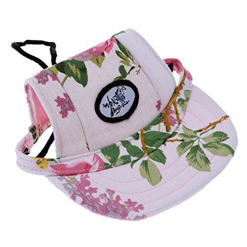 Generic Small Pet Dog Cat Kitten Flower Foral Baseball Hat Strap Cap Sunbonnet S