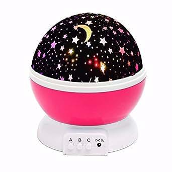 (Promotions)SOLMORE Lampada Stelle LED Luna proiettore cielo stellato luci notturne lampada proiettore di stelle per bambini con Cavo USB Rosa