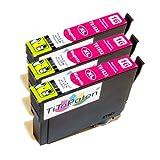 *TiToPaten®* 3 Druckerpatronen kompatibel zu Epson WorkForce WF-2630 WF in rot