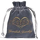 Yumilok Doppel Ineinander Verschlungene Herzen 925 Sterling Silber Zirkonia Damen Charm-Armband Armkette Gliederarmband, 6.3-7.5
