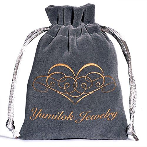 Yumilok Roségold 925 Sterling Silber Zirkonia Delfin Ohrstecker Halskette Schmuck Set Ohrringe Kette mit Anhänger Set für Damen Mädchen - 5