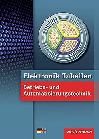 Elektronik Tabellen: Betriebs- und Automatisierungstechnik: