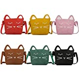 Auranso Little Girls Shoulder Bag, Cute Cat Ear Cross Body Bag Purse Adjustable Strap Massenger Handbag for Kids, Toddler, Girls