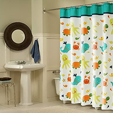 YMJ Impermeables niños ducha cortina baño accesorios hogar decoración