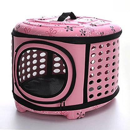 FOKOM EVA Foldable Pet Carrier Traveling Handbag Cat Dog House Cage - Pink L 3