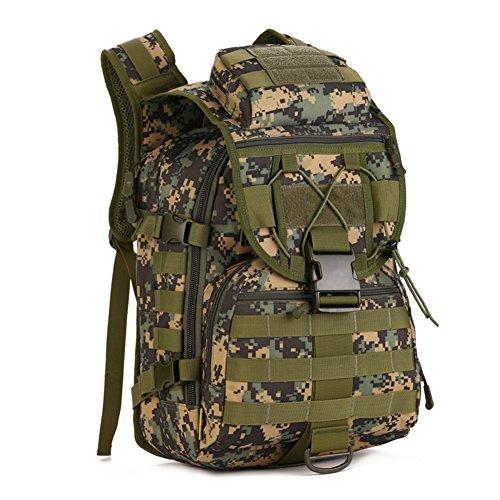 Imagen de huntvp táctical militar  de asalto gran bolsa de hombro impermeable 40l para las actividades aire libre senderismo caza viajar color negro marrón camuflaje del desierto camuflaje de selva