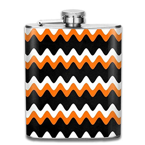 (Flachmänner Stainless Steel Flask, Whiskey Flask Vodka Alcohol Flask Halloween Strip Pattern Cartoon Portable Pocket Bottle, Bag Bottle, Camping Wine Bottle, Suitable for Men and Women 7oz)